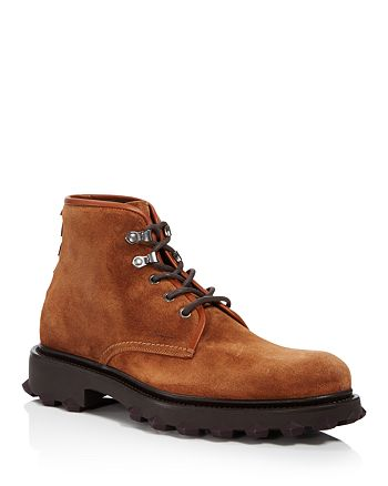 Salvatore Ferragamo - Suede Lace Up Boots with Rubber Injected Spikes