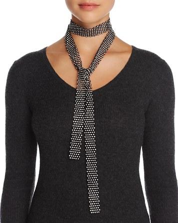 $Cara New York Crystal Embellished Long Skinny Scarf - 100% Exclusive - Bloomingdale's