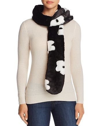 Cara New York - Floral Faux Fur Stole - 100% Exclusive