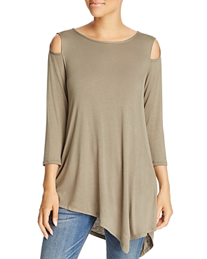 Alison Andrews Cold-Shoulder Asymmetric Top