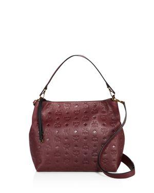 Mcm Klara Monogram Medium Leather Hobo 2634671