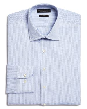 The Men's Store at Bloomingdale's Blue Dobby Slim Fit Dress Shirt - 100% Exclusive