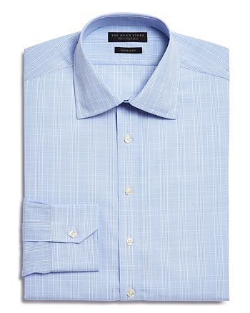 The Men's Store at Bloomingdale's - Glen Plaid Regular Fit Dress Shirt - 100% Exclusive