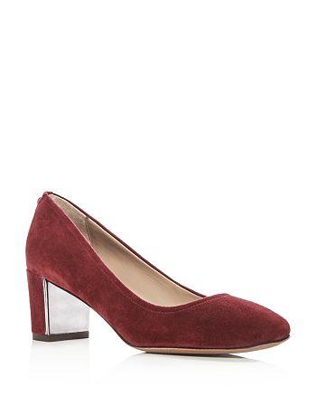 83ad576a6bf Donald Pliner Women's Corin Suede Block Heel Pumps | Bloomingdale's