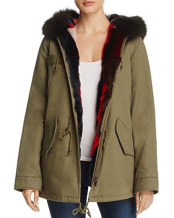 AQUA - Multi-Color Fur Reversible Anorak Jacket - 100% Exclusive
