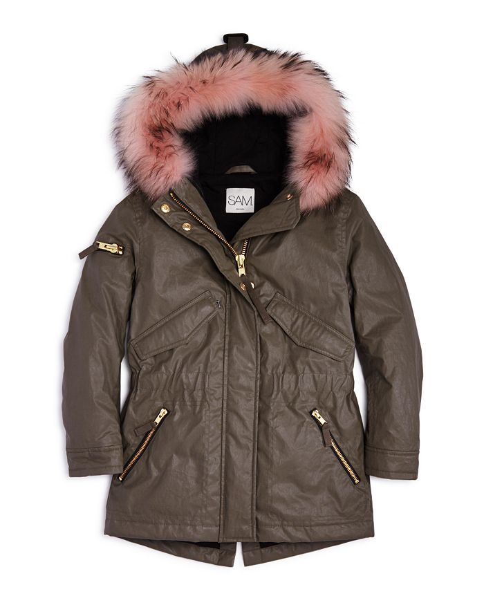 SAM. - Girls' Fur-Trimmed Parka - Big Kid