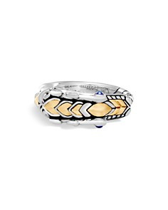 JOHN HARDY - 18K Gold and Sterling Silver Legends Naga Ring with Sapphire