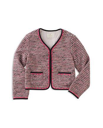 kate spade new york - Girls' Tweed Jacket - Little Kid