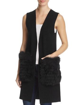 $Kobi Halperin Fur Pocket Sweater Vest - Bloomingdale's