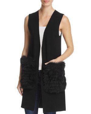 Kobi Halperin Fur Pocket Sweater Vest