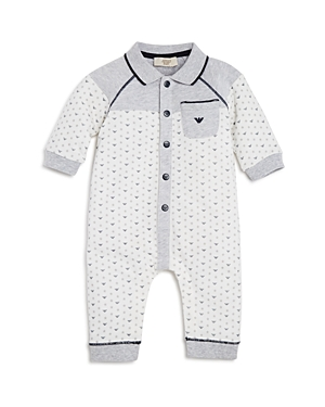 Armani Boys Collared Star Print Onesie  Baby