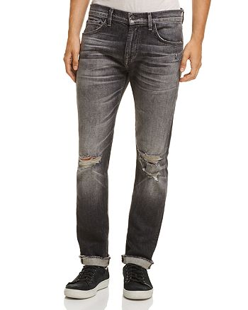 7 For All Mankind - Cuffed Paxton Skinny Fit Jeans in Blowout