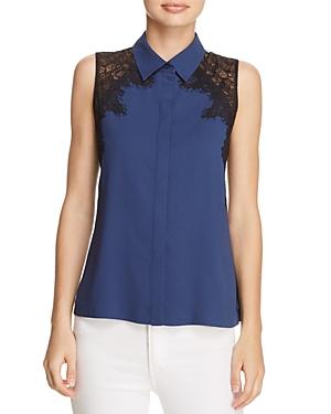 Cooper & Ella Vera Lace Cutout Shirt