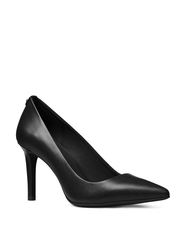 Michael Kors Dorothy Flex Leather Pointed Toe High-Heel Pumps