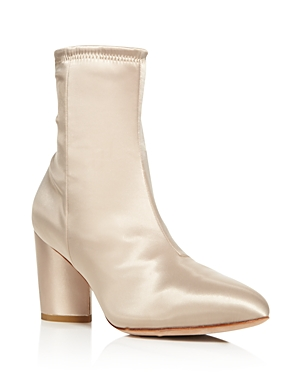 Opening Ceremony Dylan Satin Block Heel Booties