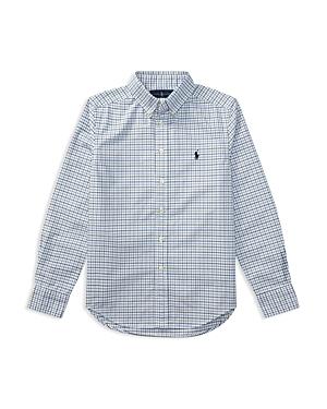 Ralph Lauren Childrenswear Boys Plaid Oxford Shirt  Big Kid