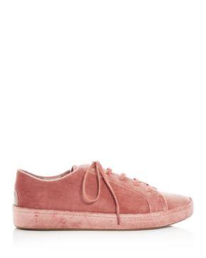 Joie Women's Daryl Velvet Lace Up Sneakers EKZ3M