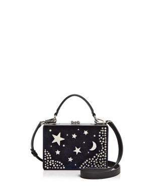 Nasty Gal Girl Boxx Trunk Star Moon Velvet Crossbody 2683881