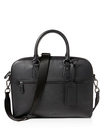 a0d7ab665068 Polo Ralph Lauren - Pebbled-Leather Briefcase