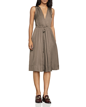 Bcbgmaxazria Katia Drawstring Satin Dress