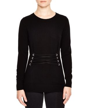 Sandro Robine Lace-Up Sweater