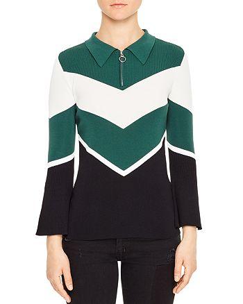 Sandro - Evita Chevron Sweater