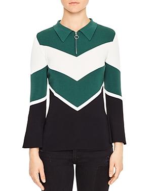 Sandro Evita Chevron Sweater