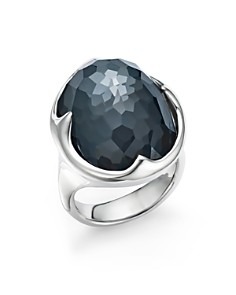 IPPOLITA - Sterling Silver Rock Candy® Clear Quartz and Hematite Doublet Prince Ring
