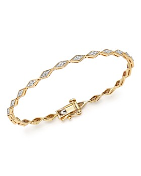 Adina Reyter - 14K Yellow Gold Pavé Diamond Tennis Bracelet