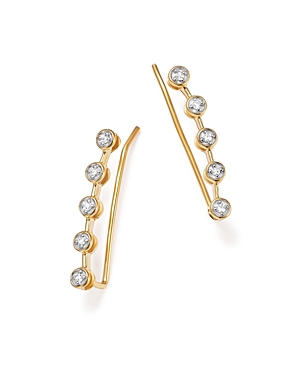 Adina Reyter 14K Yellow Gold Five Diamond Ear Climbers