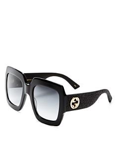Gucci - Women's Oversized Square Glitter Sunglasses, 54mm