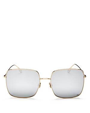 Dior Women\\\'s Stellaire1 Mirrored Square Sunglasses, 59mm-Jewelry & Accessories