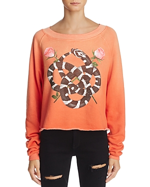 Wildfox Monte Snake Charmer Graphic Sweatshirt