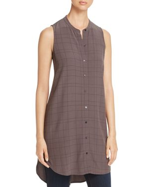 Eileen Fisher Check Print Tunic