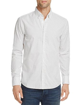 BOSS - Preppy Triangle Microprint Long Sleeve Button-Down Shirt