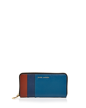 Marc Jacobs Standard Color Block Saffiano Leather Continental Wallet