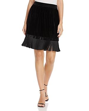 T Tahari Isra Velvet Fringe Skirt