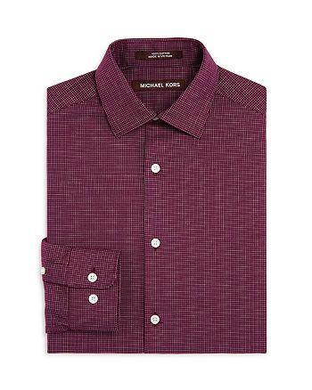 Michael Kors - Boys' Mini Check Dress Shirt - Big Kid