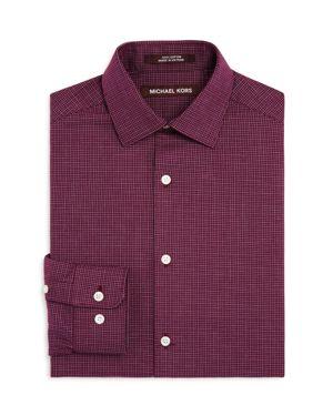 Michael Kors Boys' Mini Check Dress Shirt - Big Kid thumbnail