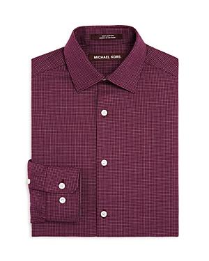 Michael Kors Boys Mini Check Dress Shirt  Big Kid