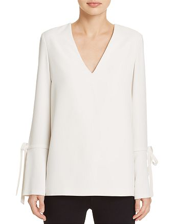 Dylan Gray - Tie-Detail Flare-Cuff Top