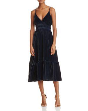 Rebecca Minkoff Mazy Velvet Midi Dress - 100% Exclusive