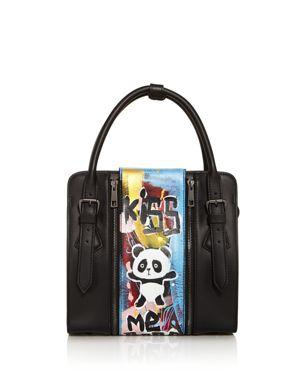 Love x Fashion x Art Panda Small Leather Satchel 2639850