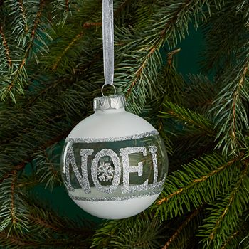 Bloomingdale's - Glass Ball Glitter Noel Ornament - 100% Exclusive