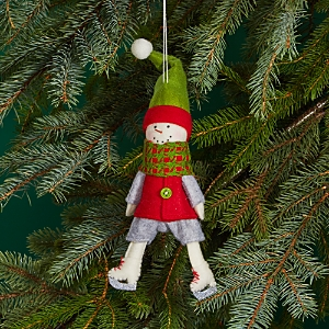 Bloomingdale's Felt Skating Snowman Ornament - 100% Exclusive