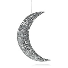 Bloomingdale's Silver Glitter Wire Moon Wall Ornament - 100% Exclusive_0