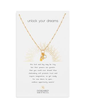 Dogeared Unlock Your Dreams Cluster Necklace, 16