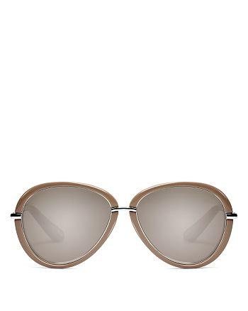 Elizabeth and James - Women's Reed Mirrored Aviator Sunglasses, 57mm