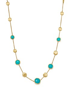 """Marco Bicego - 18K Yellow Gold Jaipur Turquoise Necklace, 16"""""""