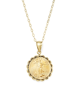 Coin Pendant Necklace in 14K Yellow Gold - 100% Exclusive